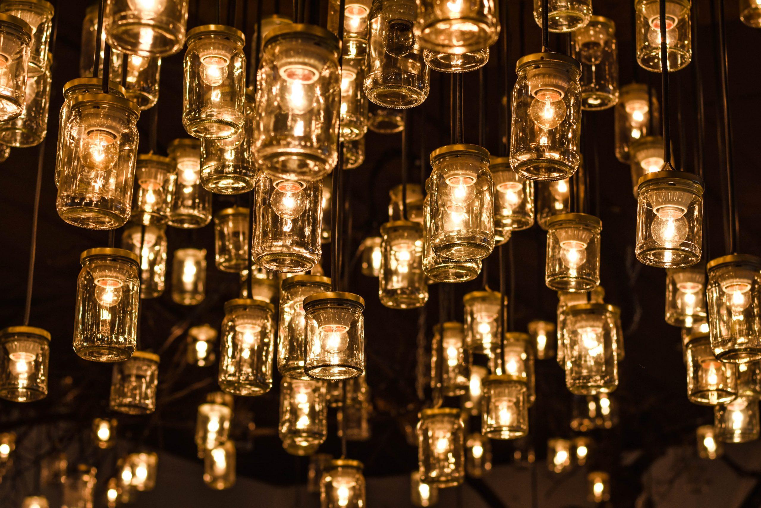 image of lights in jars